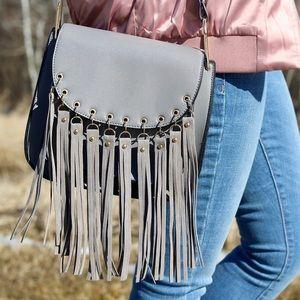 Grey tassel purse